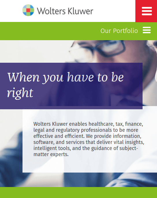 Wolters Kluwer Homepage