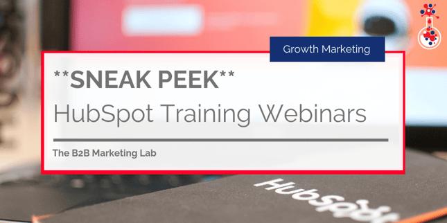 HubSpot Training Webinars