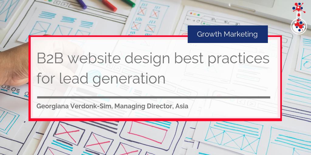 B2B website design best practices for lead generation blog image
