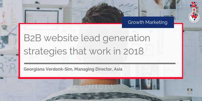 B2B website lead generation strategies in 2018 blog image