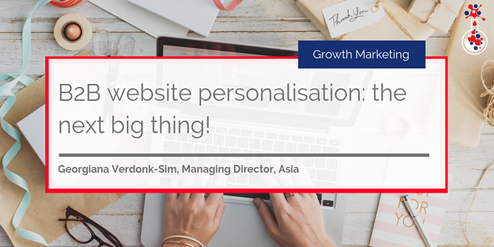 B2B website personalisation - the next big thing blog image