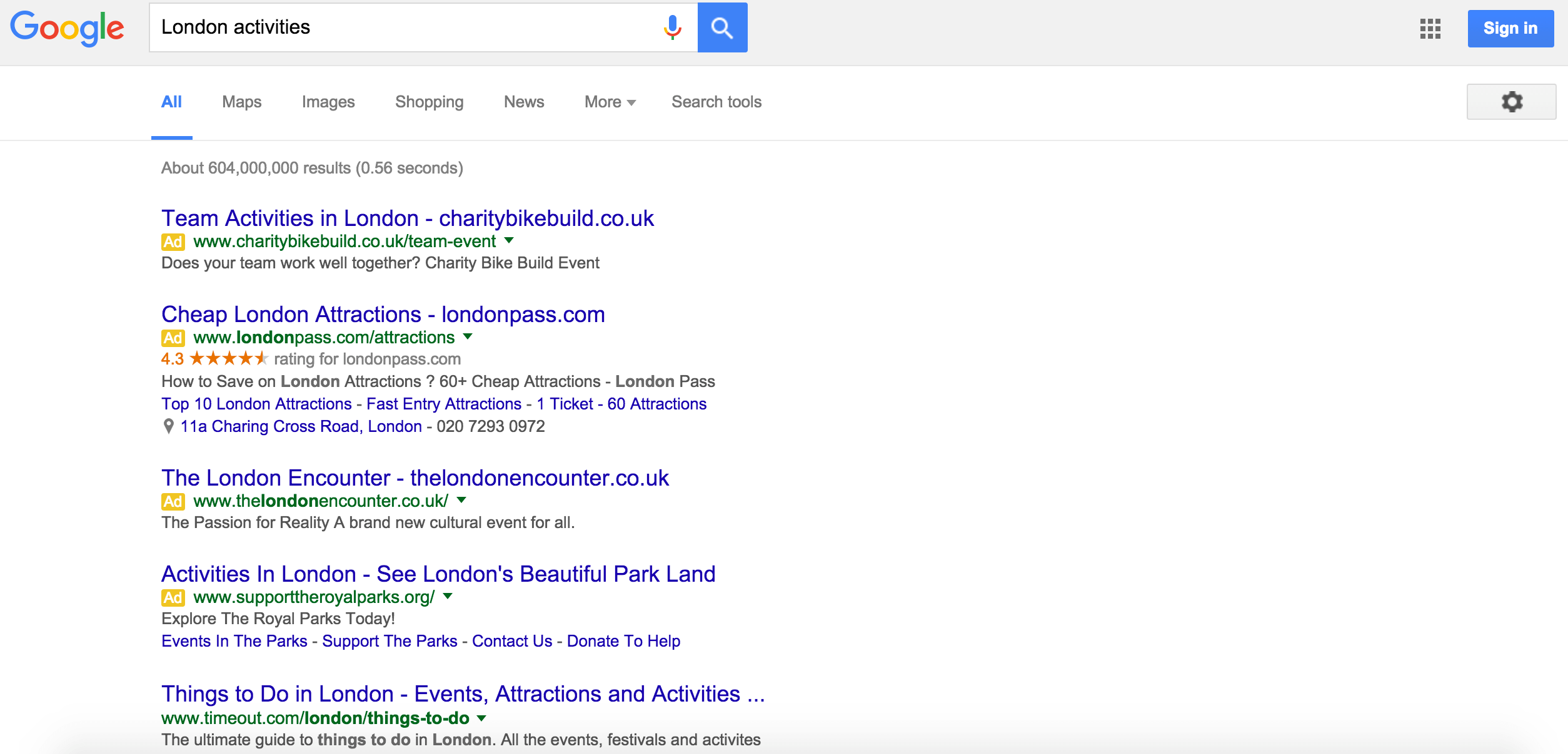 Google Search Ads new layout
