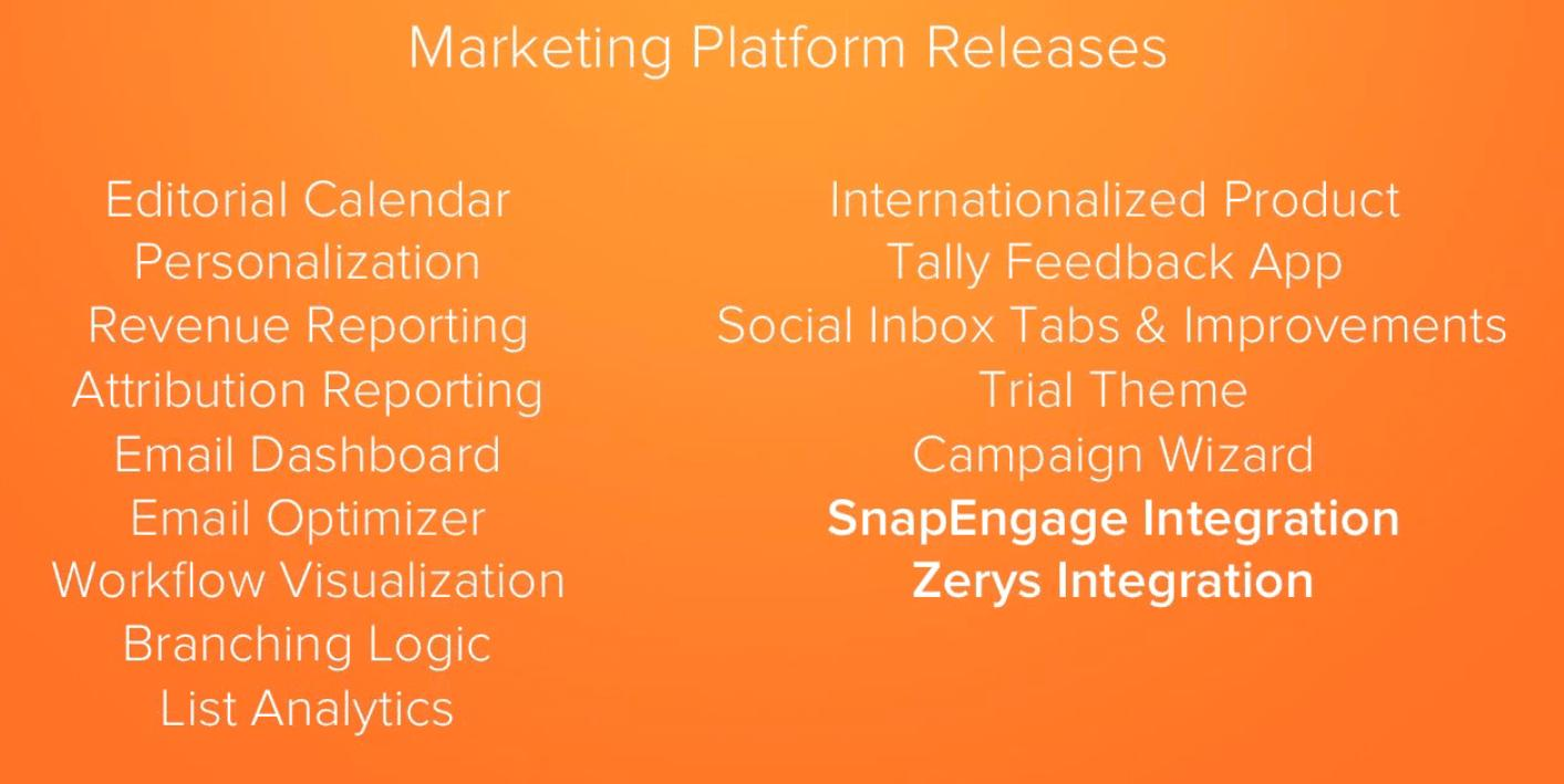 HubSpot Marketing Platform New Releases