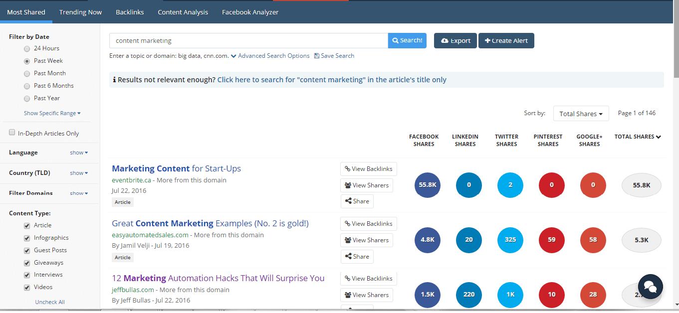 Top Marketing Apps - Buzzsumo