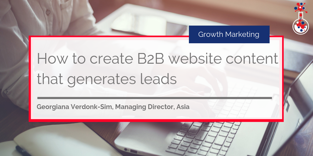 How to create B2B website content that generates leads blog image