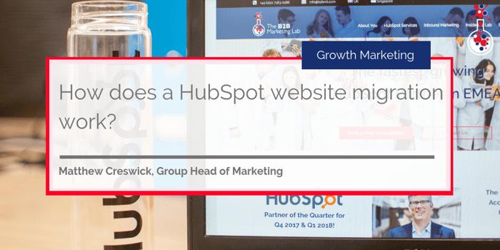 HubSpot Website Migration blog image