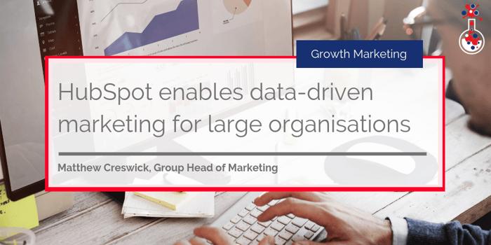 HubSpot data-driven marketing blog image