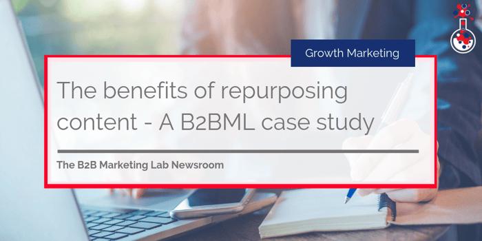 Repurposing content B2BML case study image