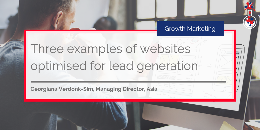 Three examples of websites optimised for lead generation blog image