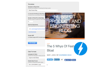 HubSpot Accelerated Mobile Pages