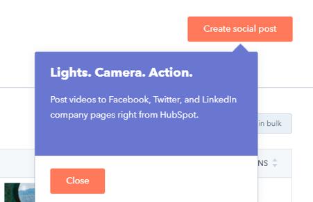 social media tool HubSpot