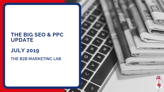 The Big SEO & PPC update blog image